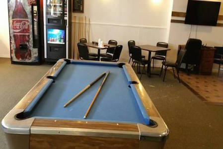 Pool Table, Vending Machines, Office Table